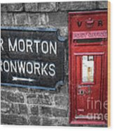 British Mail Box Wood Print by Adrian Evans