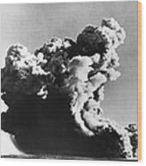 British Nuclear Test, 1952 Wood Print