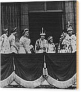 British Royal Family. From Center, L-r Wood Print