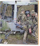 British Soldiers Help A Simulated Wood Print