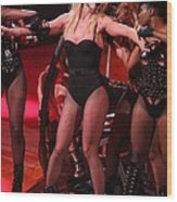Britney Spears On Stage For The Circus Wood Print