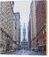 Broad Street Avenue Of The Arts Wood Print
