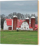 Broadacres Farm Wood Print