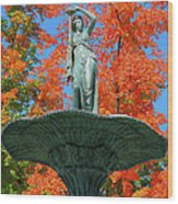 Broadway Fountain I Wood Print by Steven Ainsworth
