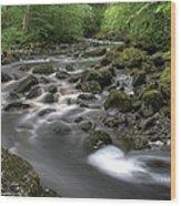 Broadwood Falls Hdr Wood Print