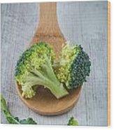 Broccoli Wood Print by Sabino Parente