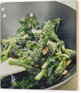 Broccoli Stir Fry Wood Print