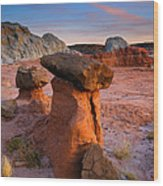 Brokentop Hoodoo Sunset Wood Print
