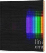 Bromine Spectra Wood Print