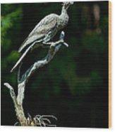 Bronze Cormorant Wood Print