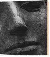 Bronze Mask Wood Print