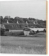 Brook Hill Dairy Farm Wood Print by Jan W Faul
