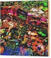 Brook Texture 54 Wood Print