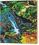 Brook Texture 86 Wood Print