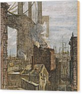 Brooklyn Bridge, 1882 Wood Print