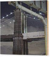 Brooklyn Bridge And A Drain Wood Print