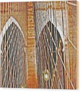 Brooklyn Bridge Arch Wood Print
