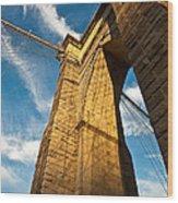 Brooklyn Bridge End Of The Day Wood Print