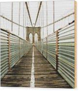 Brooklyn Bridge Wood Print by Ixefra