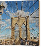 Brooklyn Bridge Summer Wood Print