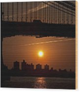 Brooklyn Bridge Sunrise Wood Print