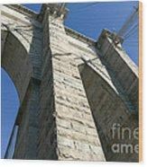 Brooklyn Bridge Tower I Wood Print