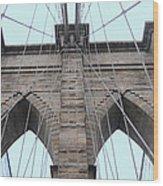 Brooklyn In Blue Wood Print