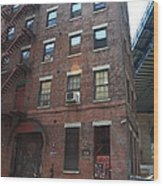 Brooklyn New York - 126 Front Street. Wood Print