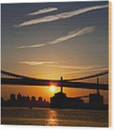Brooklyn Sunrise Wood Print