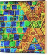 Brooklyn Tile Abstract Wood Print