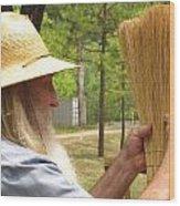 Broom Maker Wood Print