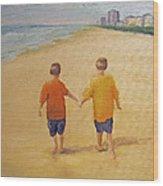 Brothers Wood Print