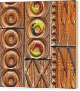 Brown Ceramic Tiles Wood Print