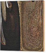 Brown Metal Wood Print by Skip Nall