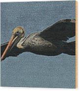 Brown Pelican Painterly Wood Print