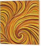 Brown Swirl Wood Print