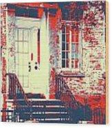 Brownstone 20 Wood Print