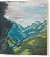 Bruecke To Heaven Wood Print