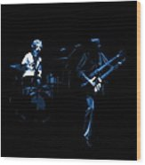 Bruford And Rutherford Blue Wood Print