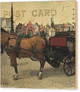 Brugge Carriage Wood Print