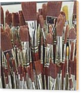 Brush Stack Wood Print
