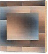Brushed 01 Wood Print