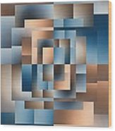 Brushed 15 Wood Print by Tim Allen