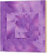 Brushed Purple Violet 10 Wood Print