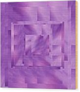 Brushed Purple Violet 11 Wood Print