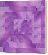Brushed Purple Violet 4 Wood Print