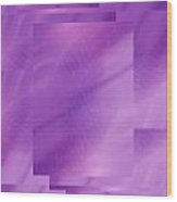 Brushed Purple Violet 6 Wood Print