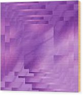 Brushed Purple Violet 8 Wood Print
