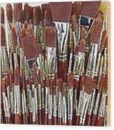 Brushes Wood Print