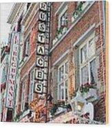 Brussels - Place Sainte Catherine Restaurants Wood Print by Carol Groenen